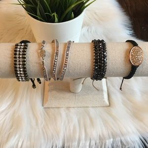 LOT 4 Wrap Neutral Color Bracelets - Bling Staples